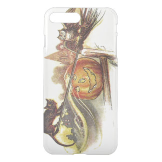 Black Cat Owl Jack O' Lantern Witch's Broom iPhone 7 Plus Case