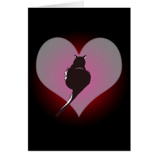 Black Cat Panther My Heart Card