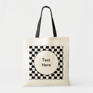 Black Cat Pattern. Budget Tote Bag