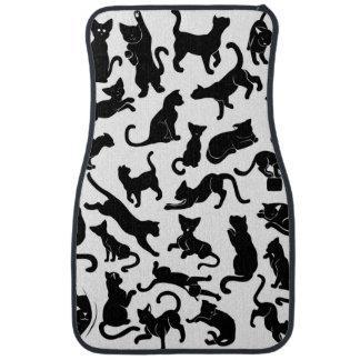 Black Cat Pattern Car Mat
