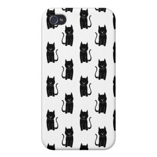 Black cat pern. iPhone 4/4S cases