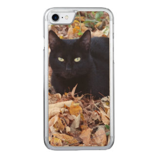 Black Cat PhoApple iPhone 8/7 Slim Maple Wood Case