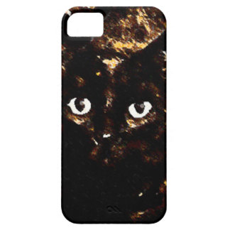 Black Cat Phone-Original Art by SQ Streater iPhone 5 Case