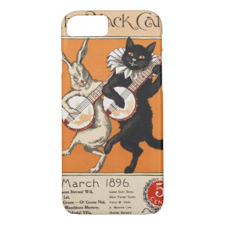 Black cat playing Banjo, Unknown artist iPhone 8/7 Case