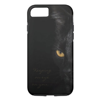 Black Cat Portrait Beautiful Eyes Photography iPhone 8/7 Case