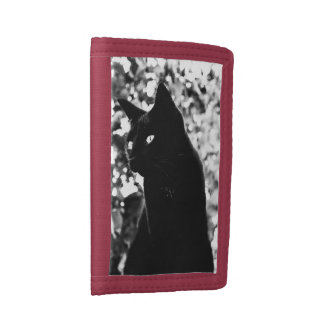 Black Cat Portrait Trifold Wallet