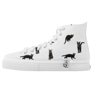 Black Cat Printed Shoes
