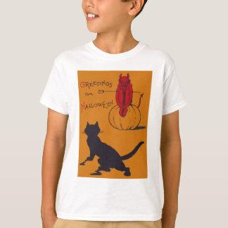 Black Cat Pumpkin Devil Demon Pitchfork Shirts