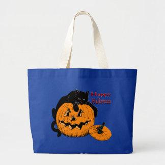 Black Cat Pumpkin Halloween Bags