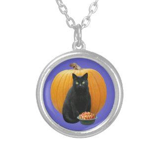 Black Cat Pumpkin Necklace