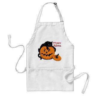 Black Cat Pumpkin Standard Apron