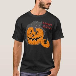 Black Cat Pumpkin T-Shirt