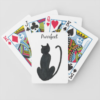 """Black Cat """"purrfect Bicycle Playing Cards"""