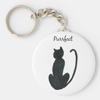 "Black Cat ""purrfect Key Ring"