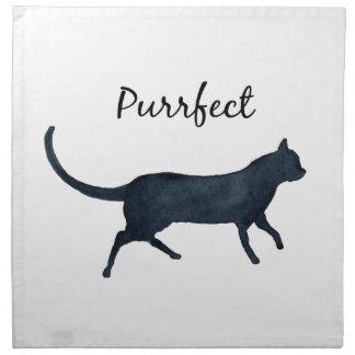 """Black cat """"purrfect"""" napkin"""
