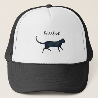 "Black cat ""purrfect"" trucker hat"
