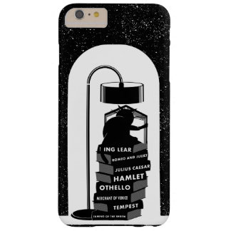 Black Cat Reading Shakespeare Plays Barely There iPhone 6 Plus Case