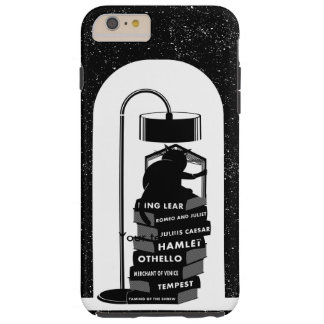 Black Cat Reading Shakespeare Plays Tough iPhone 6 Plus Case