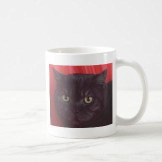 Black Cat - RED Coffee Mug