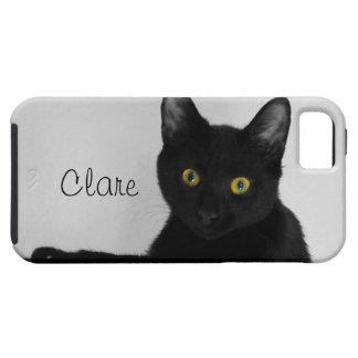 Black Cat relaxing on couch iPhone 5 Case