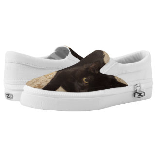Black Cat Roxie Printed Shoes