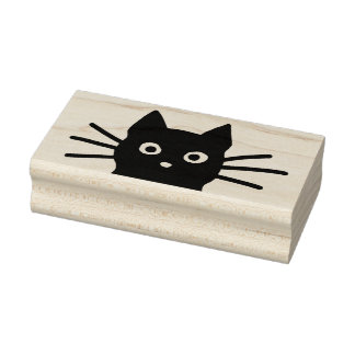 Black Cat Rubber Stamp