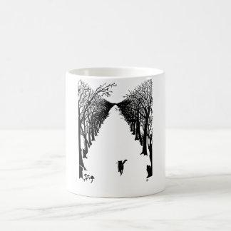 Black cat, Rudyard Kipling Basic White Mug