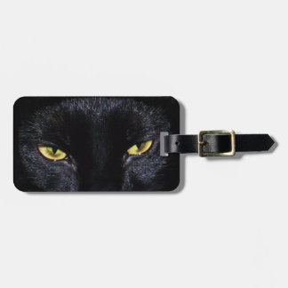 Black Cat s Eyes Luggage Tag Tote Tag