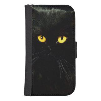 Black Cat Samsung Galaxy S4 Wallet Case