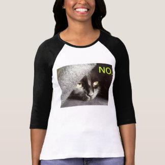 """Black Cat says """"NO."""" T-Shirt"""