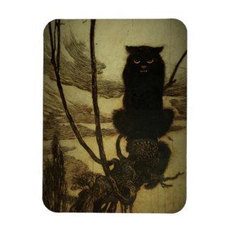Black Cat Scowling Rectangular Photo Magnet
