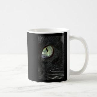 BLACK CAT SEEING COFFEE MUG