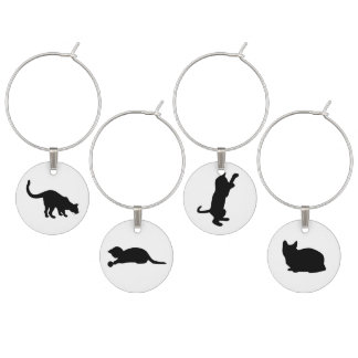 Black Cat Set Wine Charm