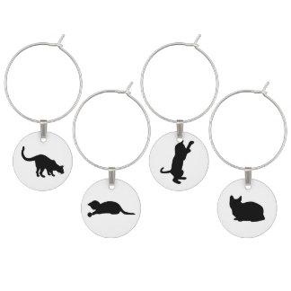 Black Cat Set Wine Glass Charm