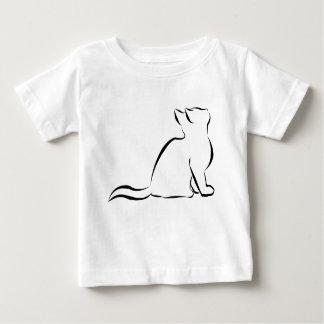 Black cat silhouette baby T-Shirt