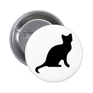 Black Cat Silhouette Pin