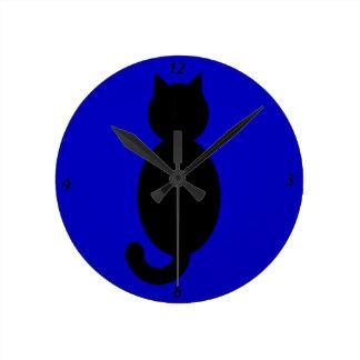 Black Cat Silhouette Clocks