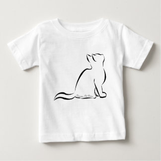 Black cat silhouette, inside text baby T-Shirt