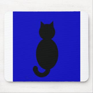 Black Cat Silhouette Mousepad