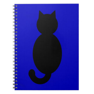 Black Cat Silhouette Notebook