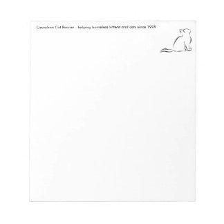 Black cat silhouette notepad