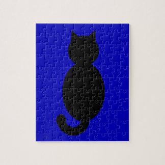 Black Cat Silhouette Puzzles