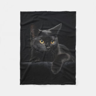 Black Cat Small Fleece Blanket