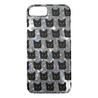 Black Cat Sparkle iPhone Case