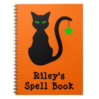 Black Cat Spell Book Notebook