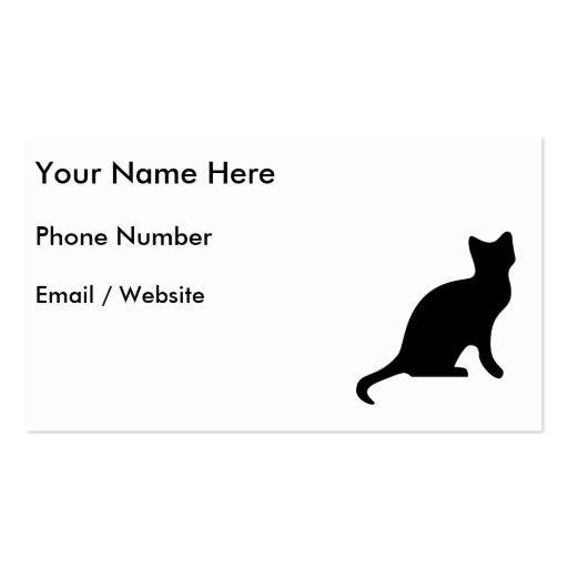 Black Cat - Spooky Scary Business Card