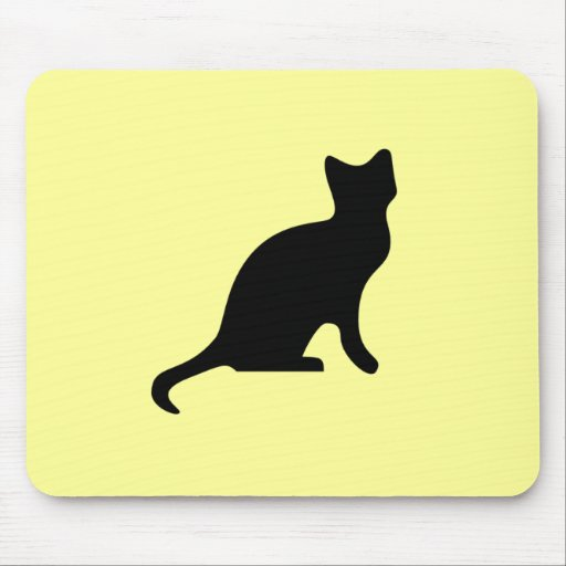 Black Cat - Spooky Scary Mouse Pad