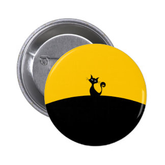 Black Cat Standard, 2¼ Inch Round Button