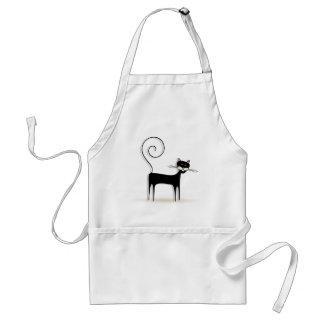 Black cat standard apron