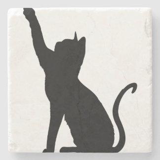 Black Cat Stone Beverage Coaster